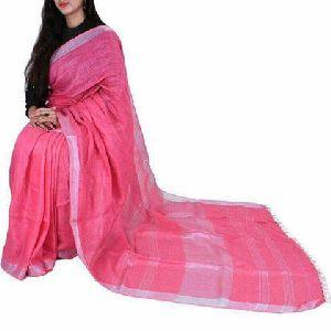 Handloom Pure Zari Linen Saree