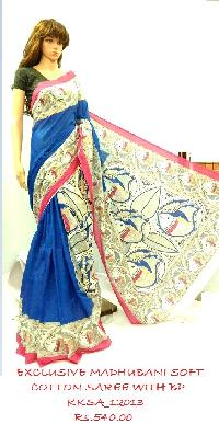 Madhubani Exclusive Designs Soft Cotton Saree