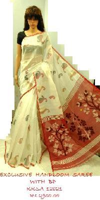Reshem Cotton handloom Saree
