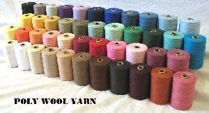 Polister Wool Blended Yarn