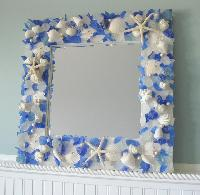 Shell Decorated Mirrors
