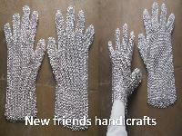 Chain Mail Aluminium Gloves