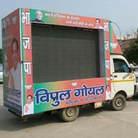 Truck mobile van led screen , led video wall, hording , promoters ,bel