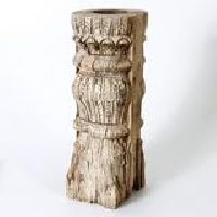 VINTAGE INDIAN PILLAR CANDLE STAND