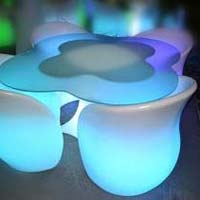Led Light Chair Table Set