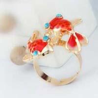 Red Carp Design Ring