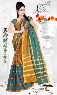 Jhanakar Fancy Cotton Saree