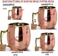 Solid Copper Moscow Mule Mugs Nickel Lined
