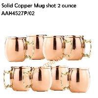 Solid Copper Mug Shots  2 Ounce