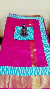 traditional ikkat design Kotta silk cotton saree