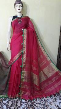 Pure Zari Linen Sarees
