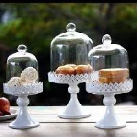 Glass Cake Container