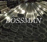 304 Polished Stainless Steel Welded Flat Oval Round Pipe