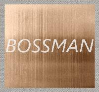 Champagne Color Brushed Stainless Steel Plate