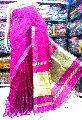 Diwali Collection Handloom Silk Cotton Zari Pallu Zari Stripe Saree