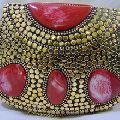 METAL CLUTCH PARTY BEADED BAGS PURSE