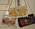 Embroidered new sling purses