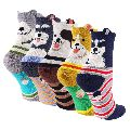 Kids Fancy Cartoon Character Cotton Designer Socks