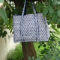 cotton quilted tote bag