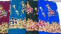 gold print sarees