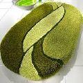 Super soft oval shape bath mat