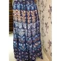 embroidered multicolor long belly skirt