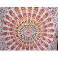 Hand Blocked Print Bohemian Wall Decor Mandala Tapestry
