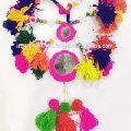 Handmade Decorative Mirror Ethnic pom pom Tassel