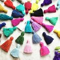 silk fabric tassel With multi colour