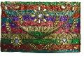 beaded embroidered clutch bag