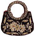 luxury hand made embroidery velvet hand bag