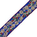 Floral Beaded Fabric Trim