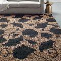 Clover Jute Flat Weave Natural Handmade dhurrie Indian Carpet Rugs
