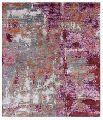 abstract design handmade silk carpet