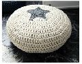 Cotton Knitted Pouf  Star Design