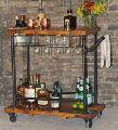 Industrial Furniture Wine Trolley