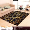 TUFTED YELLOW AND BLUE rug