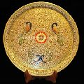 Antique Marble Painting Handicraft Plate