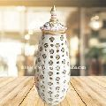 Modern Handicraft Painted Marble Lamp