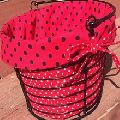 Metal Wire Basket with Jute Liner