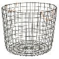 METAL WIRE IRON FRUIT BASKET WITH COPPER HANDLE