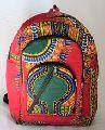 African backpack school bag