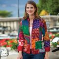 Silk Fabric Kantha Quilted Jacket