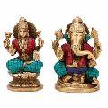 Pair of Rare Lakshmi Ganesha Ganesh Statue