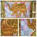 Wall Decor Elephant Tapestry Embroidered