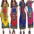 Women Traditional African Printed Dashiki Bodycon Dress