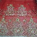 Net Lace Crystal Stones Beaded George Fabric