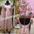 Floral Hand Work Anarkali Suit