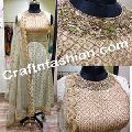 Hand Work Stone Beaded Anarkali Suit