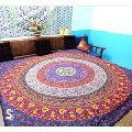 Circle Of Flowers Mandala Duvet Cover